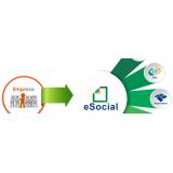 plataforma eSocial admissional onde encontro Anália Franco
