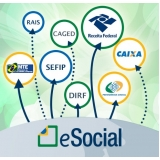 plataforma eSocial exames admissionais onde encontro Santana